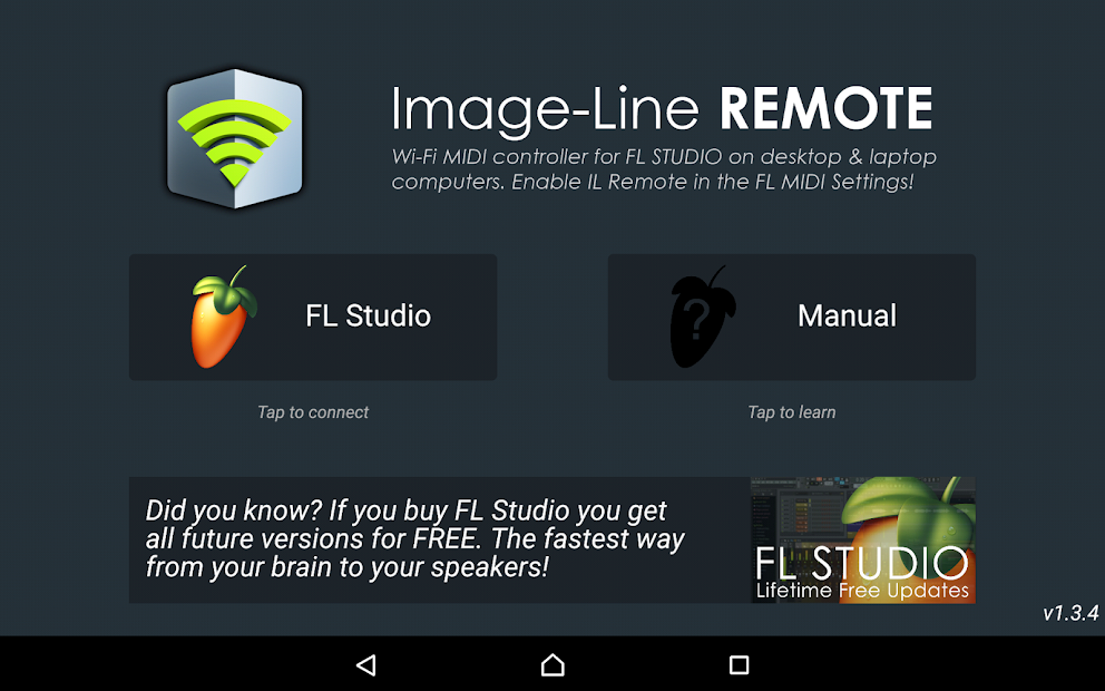 Image-Line Remote Android App Screenshot