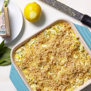 Shredded Zucchini and Fontina Casserole.
