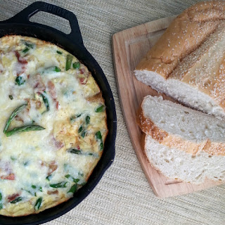 Prosciutto, Asparagus and Rosemary Fries Frittata