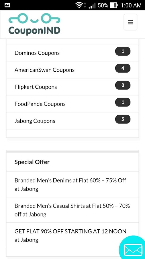 CouponIND Free Coupons & Deals- screenshot