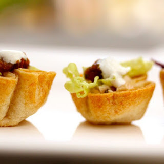 Mini Chicken Tostada Appetizers Recipe