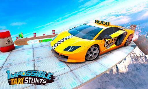 Taxi Car Stunts 3D: GT Racing Car Games apkbreak screenshots 1