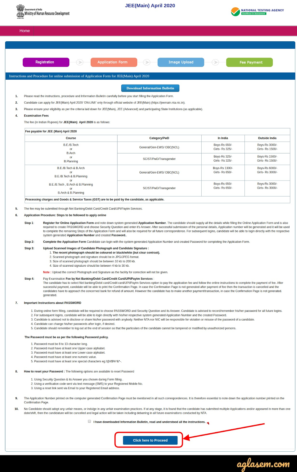 JEE Main April 2021 Instructions