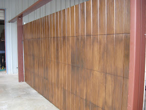 Photo: This is a Tree Free door at the shop. It has just been painted with a Faux finish to match the customers front door. She picked the color, approved the finish and loves her door. Wood Free, from Cedar Park Overhead Doors.