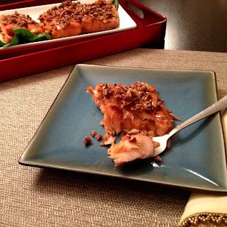Bourbon Brown Sugar Salmon.