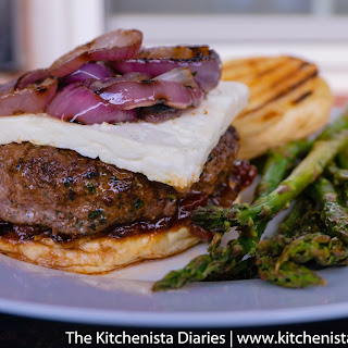 Mediterranean Lamb Burgers with Spiced Tomato Jam