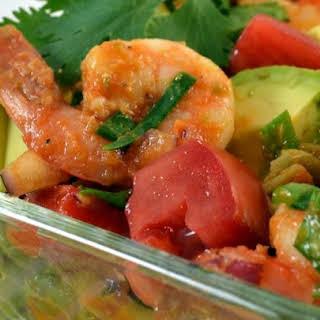 Confetti Shrimp Cocktail Pasta Salad.