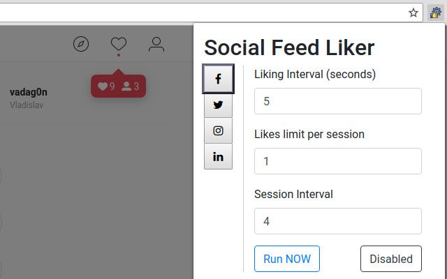 Social Feed Liker