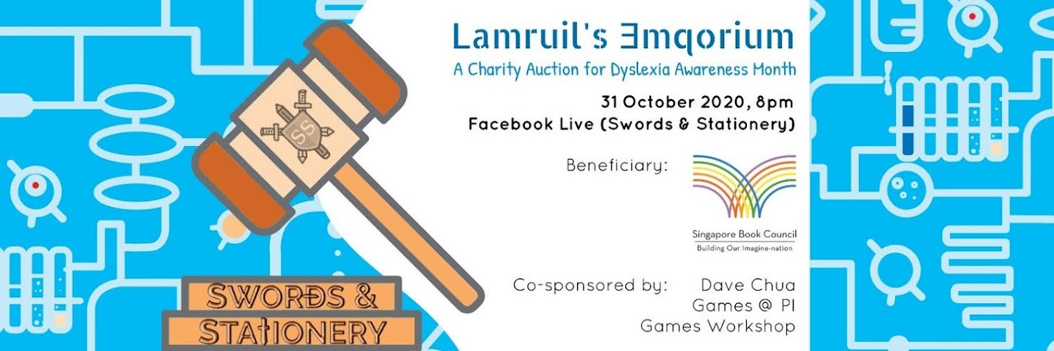 Lamruil's Emporium - A Charity Auction for Dyslexia Awareness Month