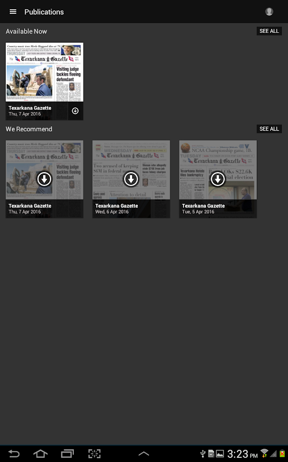 Texarkana Gazette- screenshot