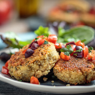 Garlic Lemon Couscous Cakes.