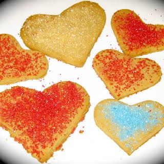 Honey Sweetened Gluten Free Valentine Cookies.
