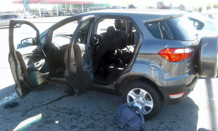 The Ford EcoSport that was stopped