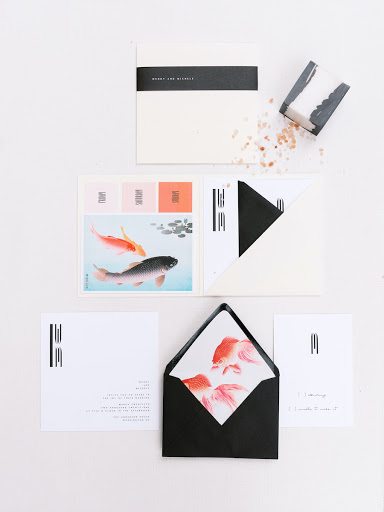A Modern, Same-Sex Artistic Wedding Inspired by Koi and their Symbolism