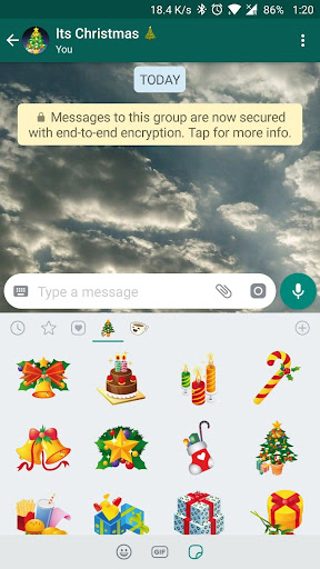 Christmas Stickers for WhatsApp 1.0 screenshots 2