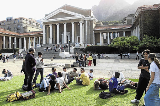 University of Cape Town. Picture: SUNDAY TIMES