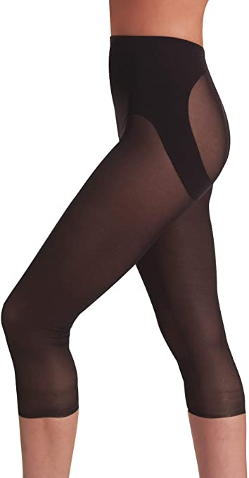 Naomi and Nicole Women's Sexy and Sheer Capri Pantliner see through yoga pants
