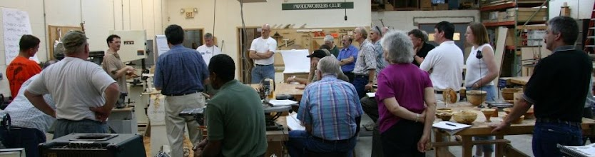 Photo: We had a very nice turnout for Stuart Batty's highly informative and educational demonstrations of turning and sharpening techniques.