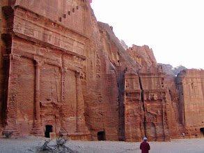 Photo: Continuing along the Outer Siq away from the Treasury.  Many of these monuments held tombs at the upper levels to protect against animals and grave robbers.