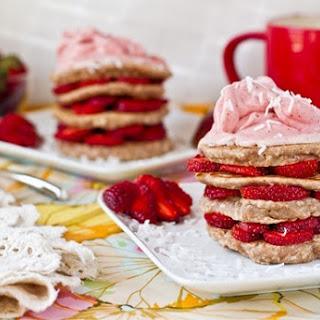 Strawberry Shortcake Stacked Pancakes Recipe