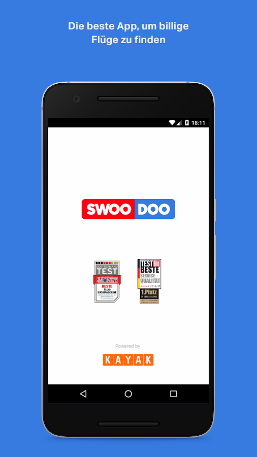 SWOODOO - billiger fliegen- screenshot