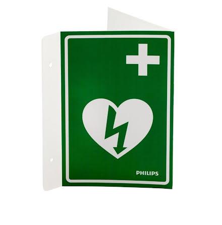 Skylt AED Wall Sign grön