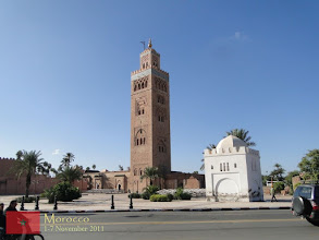 Photo: one of the landmarks of Marrakech, the Koutoubia Mosque