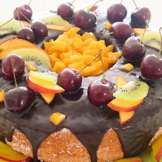 Coconut Angel Food Fruit Cake