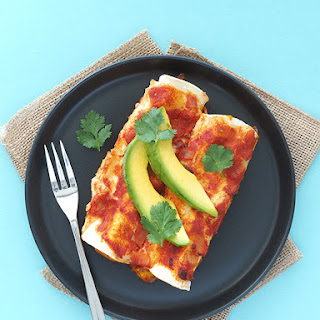 Pumpkin and Chickpea Enchiladas