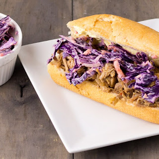 Pulled Pork with Red Cabbage Coleslaw Recipe