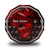 Red moon GO Keyboard Theme