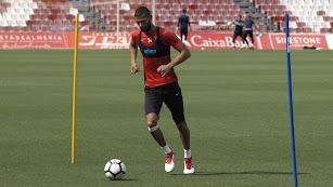 Joaquín en el entrenamiento de este miércoles.