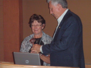 Photo: Terrible picture, but, the First Woman Chairman of USWA accepts her gavel!