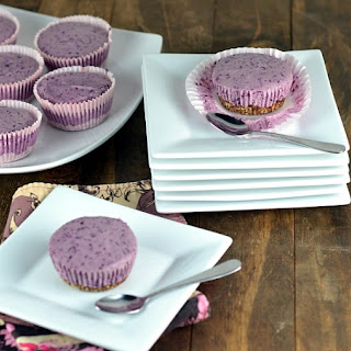 Vegan Blueberry Cheesecake Cupcakes