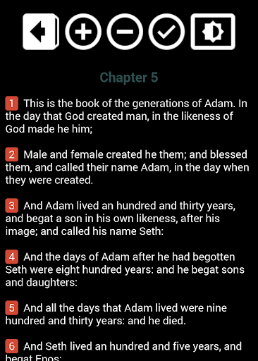 Holy Bible King James Version screenshot