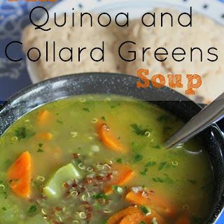 Fall Quinoa and Collard Greens Soup.