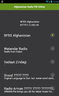 Afghanistan Radio FM Online - náhled