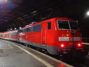 Photo: 111 014-7 (DB), Aachen Hbf - Duesseldorf Hbf {Aachen Hbf; 2015-09-25}
