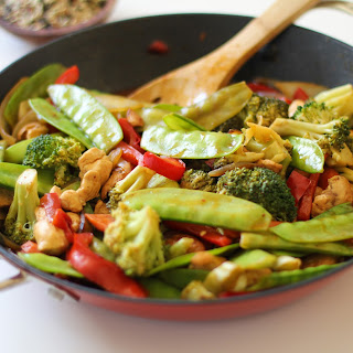 Chicken and Vegetable Korean Stir Fry.