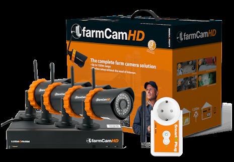 LUDA FarmCam HD + 3 extra kameror + SmartPlug