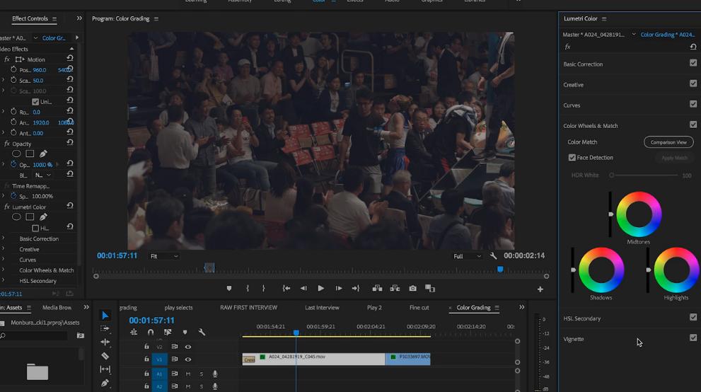 color grading in premiere pro