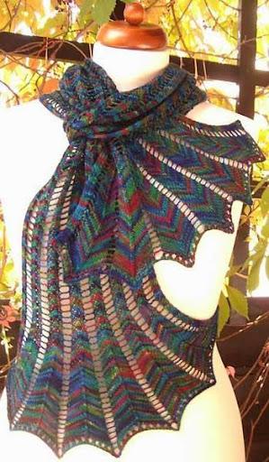 DIYのかぎ針編みスカーフ
