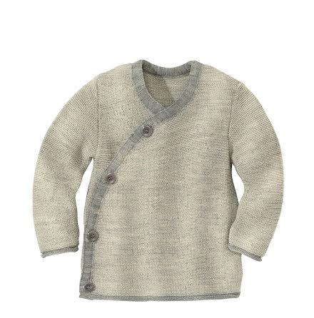 Disana omlott-tröja i ekologisk merinoull, grå/natur
