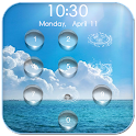 Water Drop Lock Screen :Bubble icon