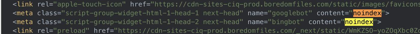 Screenshot showing the source code on