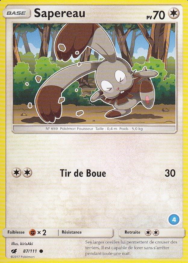 Mystherbe SL00:Kit Sablaireau/&Feunard 11//30 Carte Pokemon Neuve Française