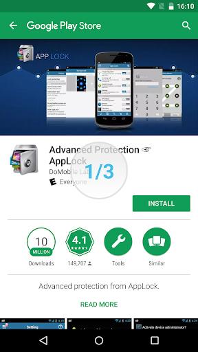 Advanced Protection ☞ AppLock 1.7 screenshots 3