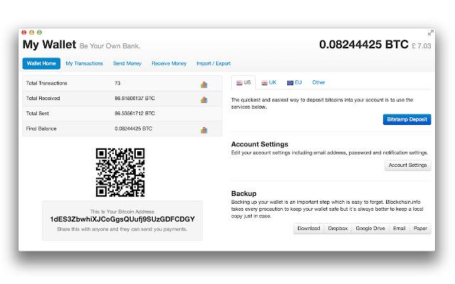 Bitcoin-Brieftasche Ubersicht.