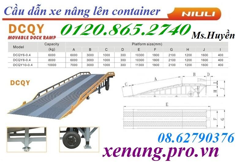 Cầu dẫn xe nâng lên container dcqy