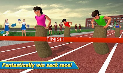 High School Girl Virtual Sports Day Game For Girls APK screenshot thumbnail 2